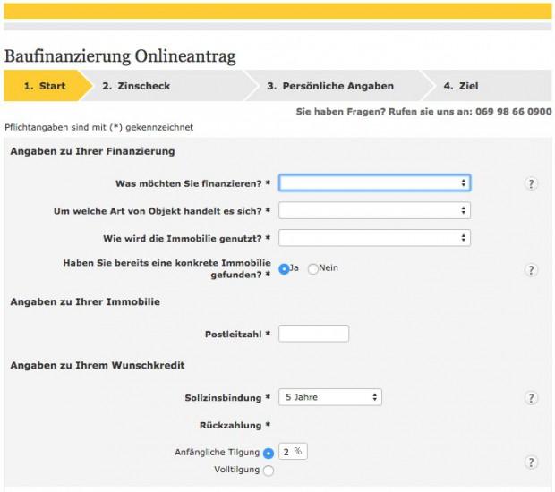 Baufinanzierung Anfrage Commerzbank