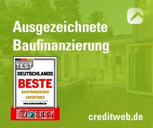 Bester Baufinanzierer Creditweb